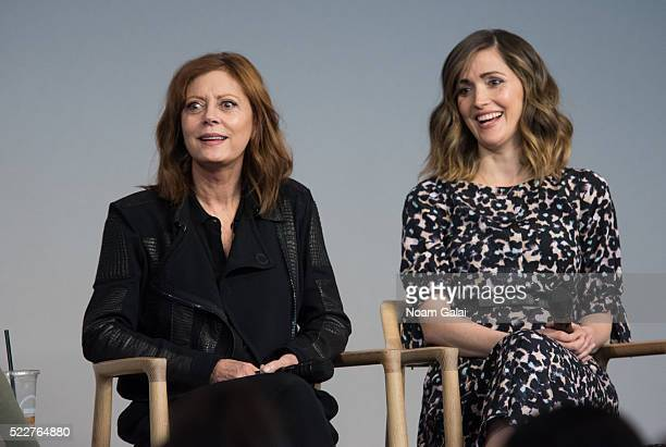 Susan Sarandon and Rose Byrne attend the 'The Meddler' panel at Apple Store Soho on April 20, 2016 in New York City.
