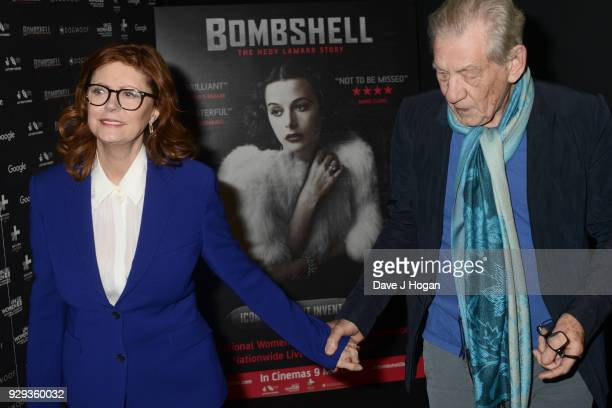 Susan Sarandon and Sir Ian McKellen attend Bombshell The Hedy Lamarr Story special screening at BFI Southbank on March 8 2018 in London United Kingdom
