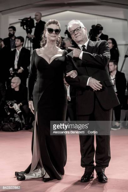 Susan Sarandon and Thierry Fremaux walk the red carpet ahead of the 'The Leisure Seeker ' screening during the 74th Venice Film Festival at Sala...