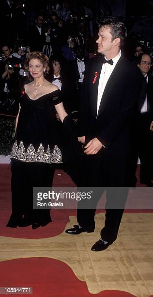 Susan Sarandon and Tim Robbins during 64th Annual Academy Awards at Dorothy Chandler Pavilion in Los Angeles California United States