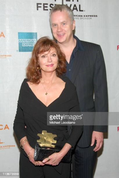Susan Sarandon and Tim Robbins during 6th Annual Tribeca Film Festival - Celebrity Sightings at Chelsea Clearview Cinemas in New York City at Chelsea...