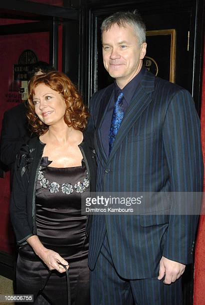 Susan Sarandon and Tim Robbins during Alfie New York City Premiere Inside Arrivals at Ziegfield Theater in New York City New York United States