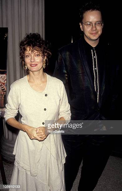 """Susan Sarandon and Tim Robbins during Premiere of """"Avalon"""" in New York at Metropolitan Museum of Art in New York City, New York, United States."""
