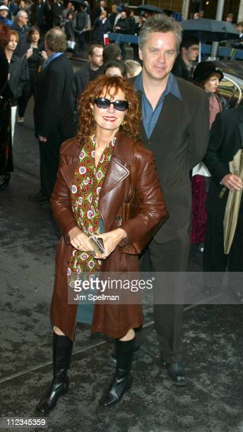 Susan Sarandon and Tim Robbins during The Opening Night of Into The Woods at Broadhurst Theater in New York City New York United States