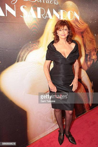 Susan Sarandon arrives at Ledership Lunch with Susan Sarandon at Crown Palladium on August 7 2016 in Melbourne Australia