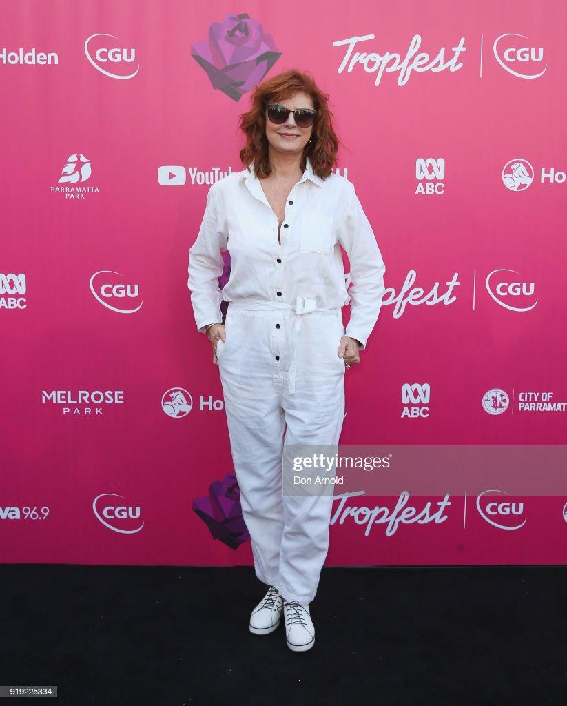 Susan Sarandon arrives at Tropfest on February 17, 2018 in Sydney, Australia.