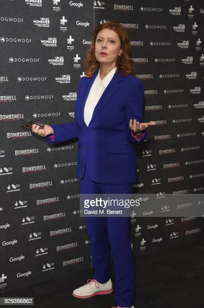 Susan Sarandon attend a special screening of 'Bombshell The Hedy Lamarr Story' at BFI Southbank on March 8 2018 in London United Kingdom