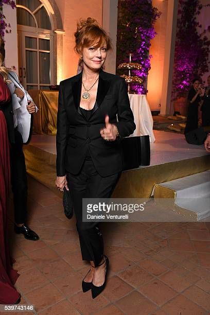 Susan Sarandon attends 62 Taormina Film Fest Dinner Party Day 2 on June 12 2016 in Taormina Italy