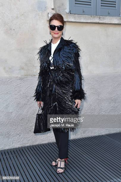 Susan Sarandon attends a 'Private view of 'TV 70 Francesco Vezzoli Guarda La Rai' at Fondazione Prada on May 7 2017 in Milan Italy