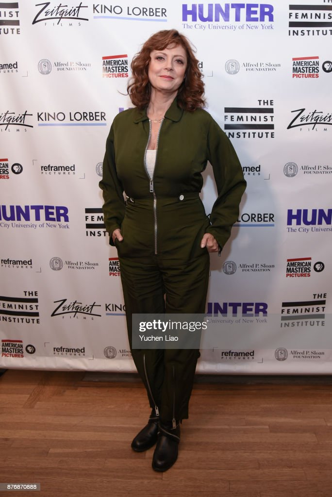 Susan Sarandon attends 'Bombshell: The Hedy Lamarr Story' Screening & Cocktail Event at Roosevelt House Public Policy on November 20, 2017 in New York City.