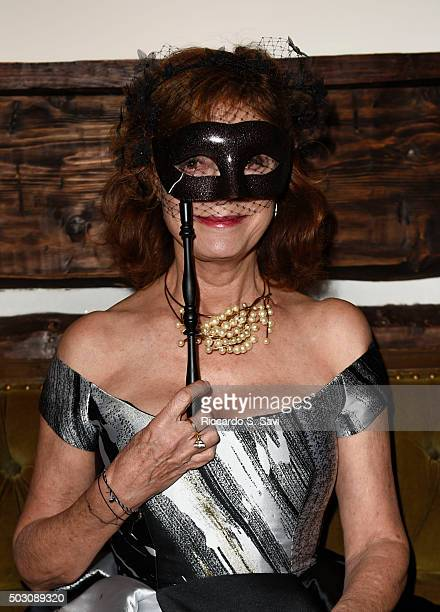Susan Sarandon attends New Year's Eve Midnight Masquerade at St Regis Resort Aspen on December 31 2015 in Aspen Colorado