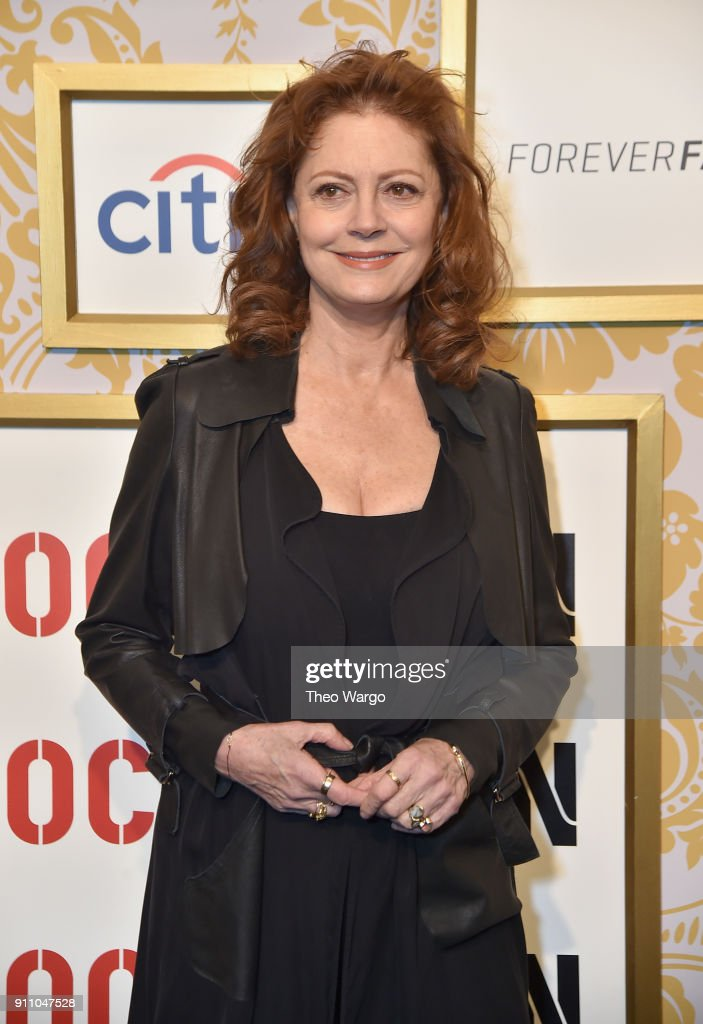 Susan Sarandon attends Roc Nation THE BRUNCH at One World Observatory on January 27, 2018 in New York City.