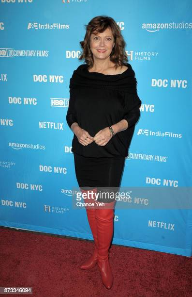Susan Sarandon attends 'Soufra' premiere during 2017 DOC NYC Festival at SVA Theater on November 12 2017 in New York City