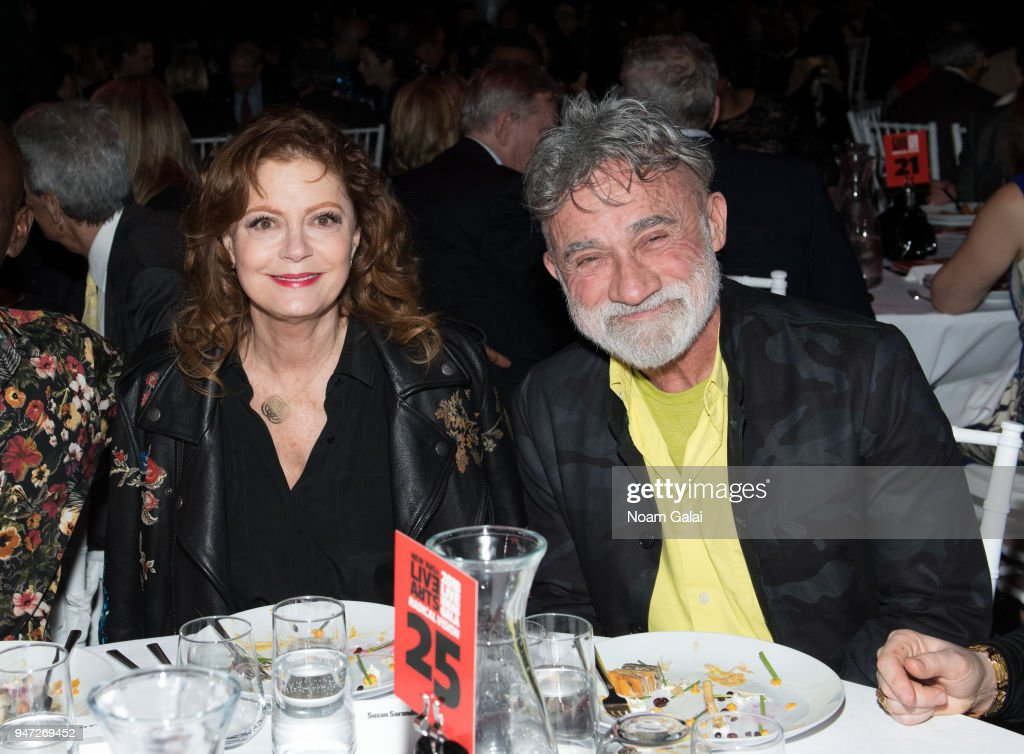 Susan Sarandon (L) attends the 2018 New York Live Arts Gala at Irving Plaza on April 16, 2018 in New York City.
