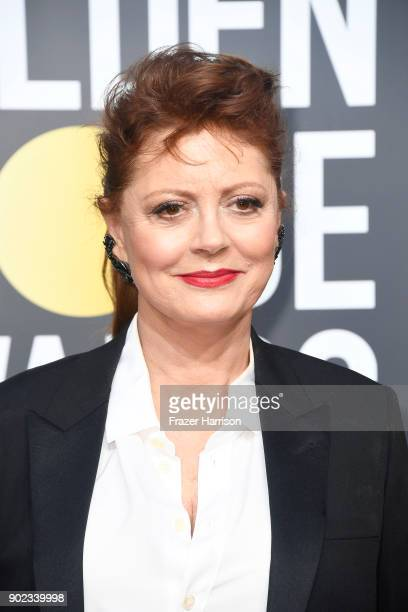 Susan Sarandon attends The 75th Annual Golden Globe Awards at The Beverly Hilton Hotel on January 7 2018 in Beverly Hills California