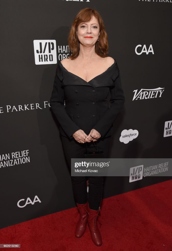 Susan Sarandon attends the 7th Annual Sean Penn & Friends HAITI RISING Gala benefiting J/P Haitian Relief Organization on January 6, 2018 in Hollywood, California.