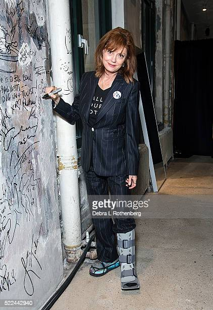 Susan Sarandon attends the AOL Build Speaker Series to discuss her film 'The Meddler' at AOL Studios In New York on April 19, 2016 in New York City.