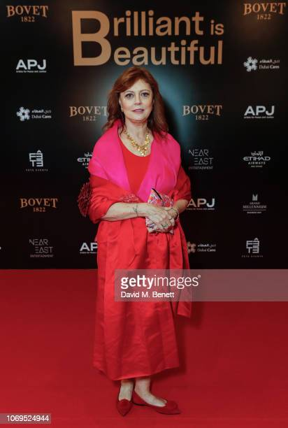 Susan Sarandon attends the Artists for Peace and Justice Bovet 1822 Gala on December 7 2018 in Dubai United Arab Emirates Photo by David M...