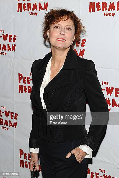 Susan Sarandon attends the Broadway opening night of The PeeWee Herman Show at the Stephen Sondheim Theatre on November 11 2010 in New York City