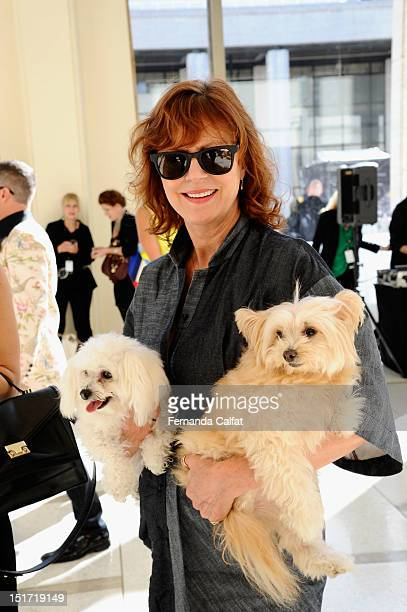 Susan Sarandon attends the Chris Benz Spring 2013 presentation during MercedesBenz Fashion Week at Avery Fisher Hall Lincoln Center on September 10...