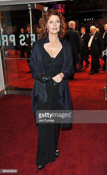 Susan Sarandon attends the Cinema & Television Benevolent Fund Royal Film Performance 2009: The Lovely Bones at Odeon Leicester Square on November...