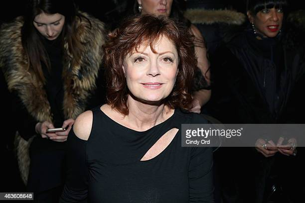 Susan Sarandon attends the Donna Karan New York fashion show during MercedesBenz Fashion Week Fall 2015 on February 16 2015 in New York City