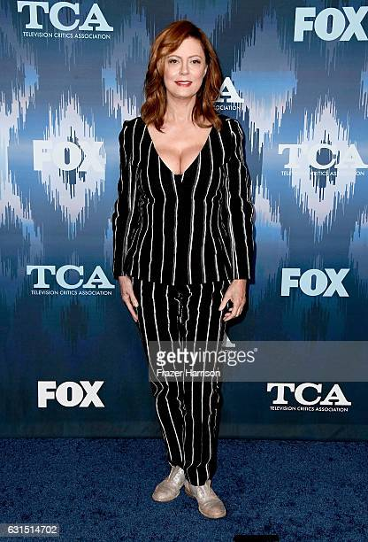 Susan Sarandon attends the FOX AllStar Party during the 2017 Winter TCA Tour at Langham Hotel on January 11 2017 in Pasadena California