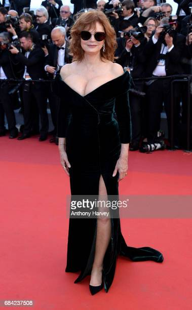 "Susan Sarandon attends the ""Ismael's Ghosts "" screening and Opening Gala during the 70th annual Cannes Film Festival at Palais des Festivals on May..."