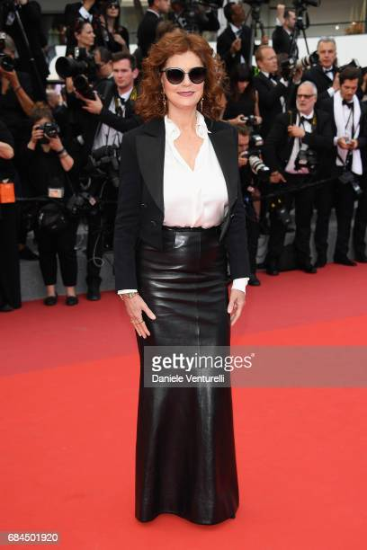 Susan Sarandon attends the Loveless screening during the 70th annual Cannes Film Festival at Palais des Festivals on May 18 2017 in Cannes France