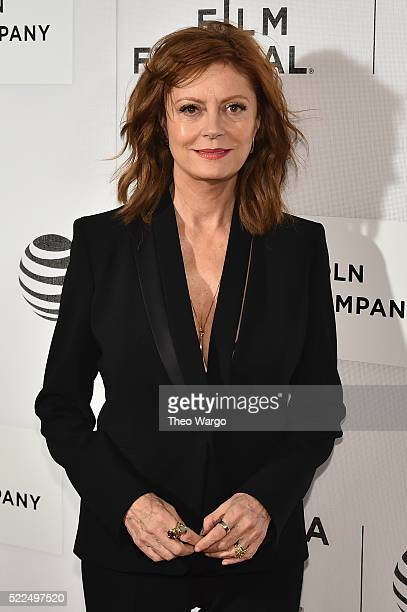 """Susan Sarandon attends """"The Meddler"""" Premiere during the 2016 Tribeca Film Festival at BMCC John Zuccotti Theater on April 19, 2016 in New York City."""
