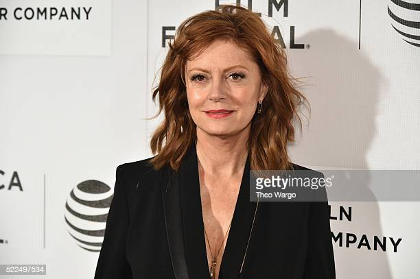 Susan Sarandon attends 'The Meddler' Premiere during the 2016 Tribeca Film Festival at BMCC John Zuccotti Theater on April 19 2016 in New York City