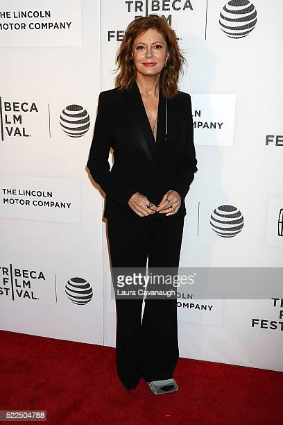 """Susan Sarandon attends """"The Meddler"""" Premiere during the 2016 Tribeca Film Festival at John Zuccotti Theater at BMCC Tribeca Performing Arts Center..."""