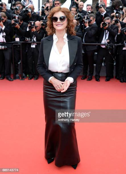 Susan Sarandon attends the 'Nelyobov ' screening during the 70th annual Cannes Film Festival at Palais des Festivals on May 18 2017 in Cannes France