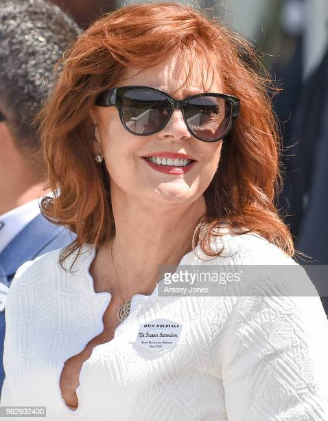 Susan Sarandon attends The OUTSOURCING Inc Royal Windsor Cup 2018 polo match at Guards Polo Club on June 24 2018 in Egham England
