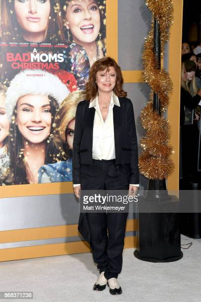 Susan Sarandon attends the premiere of STX Entertainment's A Bad Moms Christmas at Regency Village Theatre on October 30 2017 in Westwood California