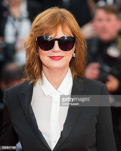 Susan Sarandon attends the screening of 'Cafe Society' at the opening gala of the annual 69th Cannes Film Festival at Palais des Festivals on May 11...