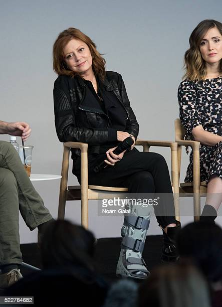 Susan Sarandon attends the 'The Meddler' panel at Apple Store Soho on April 20 2016 in New York City