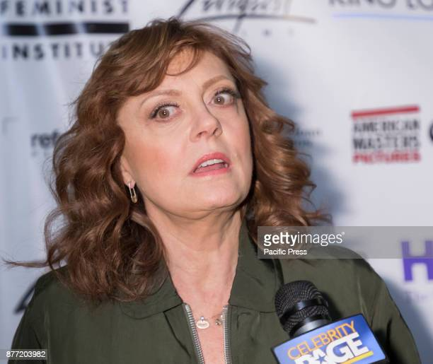 Susan Sarandon attends theatrical opening of Bombshell The Hedy Lamarr Story at Hunter College