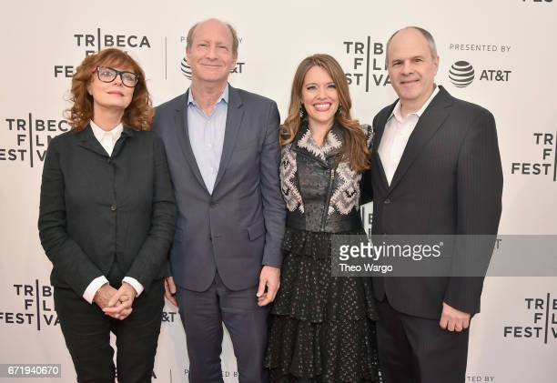 Susan Sarandon Doron Weber Alexandra Dean and Michael Kantor attend 'Bombshell The Hedy Lamarr Story' Premiere during the 2017 Tribeca Film Festival...