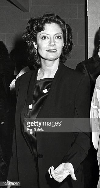 Susan Sarandon during 'Hooray For Hollywood' AIDS Benefit April 5 1988 at Bloomingdale's in New York City New York United States
