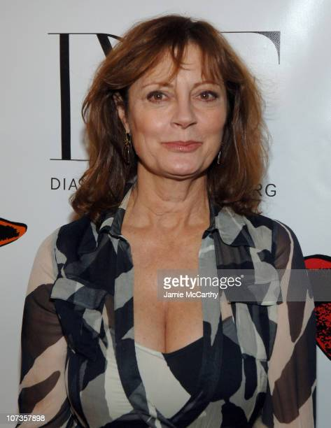 Susan Sarandon during Mercedes Benz Fashion Week Fall 2007 Diane Von Furstenberg Front Row and Backstage at The Tent Bryant Park in New York City New...