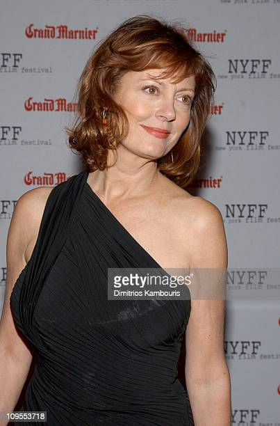 Susan Sarandon during Opening of the 41st New York Film Festival Sponsored by Grand Marnier 'Mystic River' Premiere at Avery Fisher Hall Lincoln...