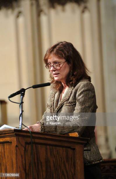 Susan Sarandon during The Realizing the Dream Martin Luther King Jr Tribute January 15 2006 at Riverside Church in New York City New York United...