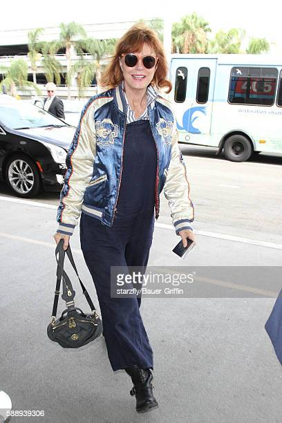 Susan Sarandon is seen at LAX on August 12 2016 in Los Angeles California