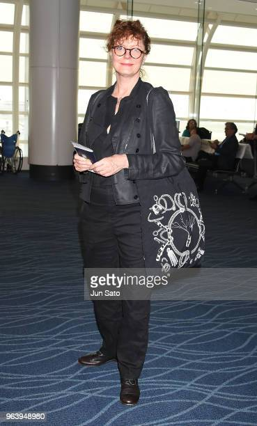 Susan Sarandon is seen upon arrival at Haneda Airport on May 31 2018 in Tokyo Japan