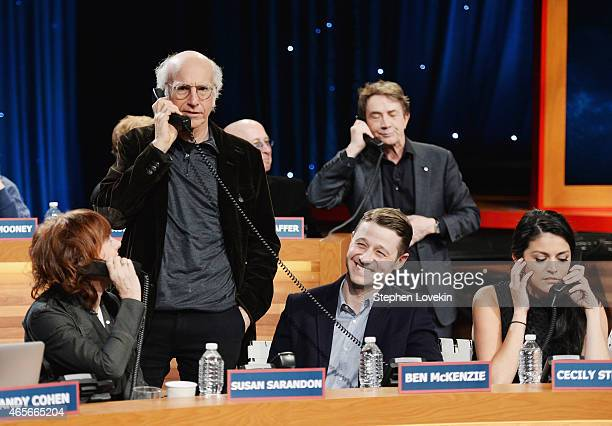 Susan Sarandon Larry David Ben McKenzie Martin Short and Cecily Strong attend The Night Of Too Many Start Live Telethon on March 8 2015 in New York...
