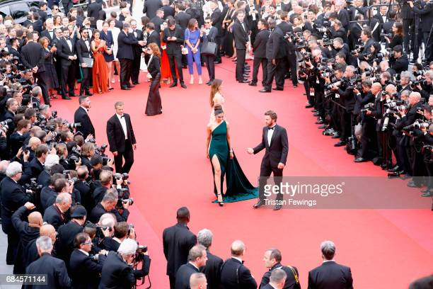 Susan Sarandon Thylane Blondeau and Deepika Padukone attend the 'Loveless ' screening during the 70th annual Cannes Film Festival at Palais des...