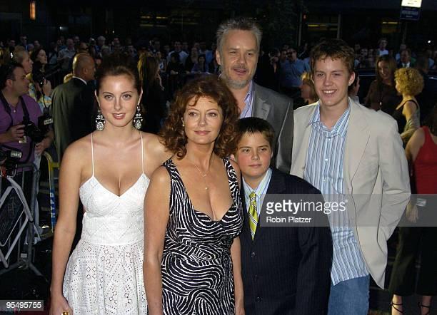 Susan Sarandon Tim Robbins Eva Amurri and Jack and Miles