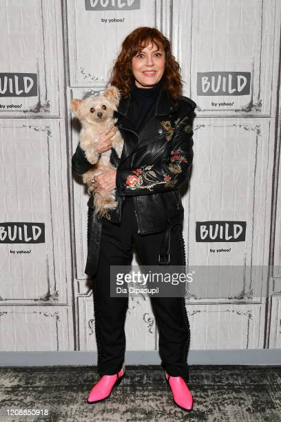 Susan Sarandon visits the Build Series to discuss The Jesus Rolls at Build Studio on February 26 2020 in New York City
