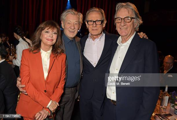 Susan Sarandon wearing Paul Smith, Sir Ian McKellen wearing Paul Smith, Bill Nighy and Sir Paul Smith attend an intimate dinner in celebration of 50...